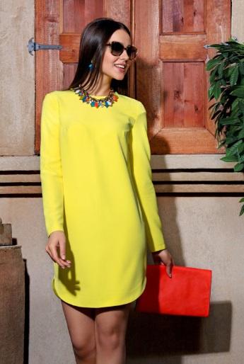 bijuterii pentru rochie în galben