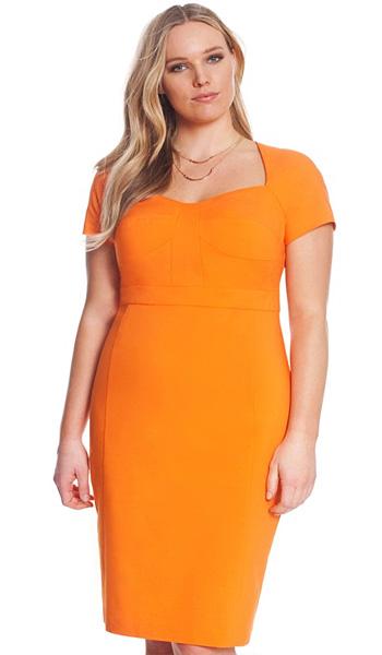 rochie portocalie pentru femeia perfectă