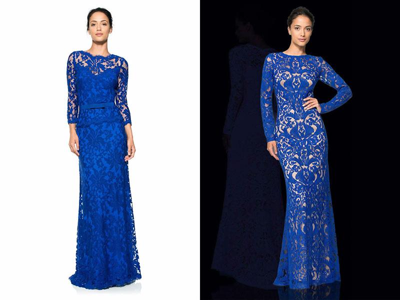 rochie în albastru și auriu